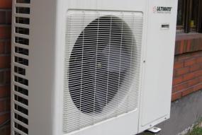 Außenaufstellung einer Luftwärmepumpe